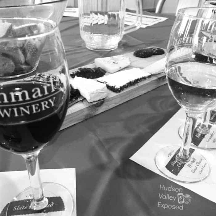 Wine and Cheese & Chocolate Platter at the annual Valentine's Day Event at Benmarl Winery