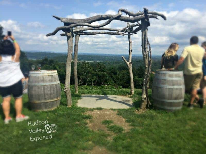View from Benmarl Winery in Marlboro, NY in Ulster County.
