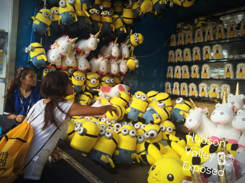 Playing games at the Dutchess County Fair in Rhinebeck, New York