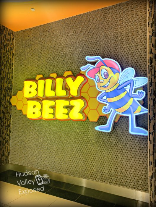 The Billy Beez sign at the Palisades Mall is lit up waiting to greet everyone who visits.