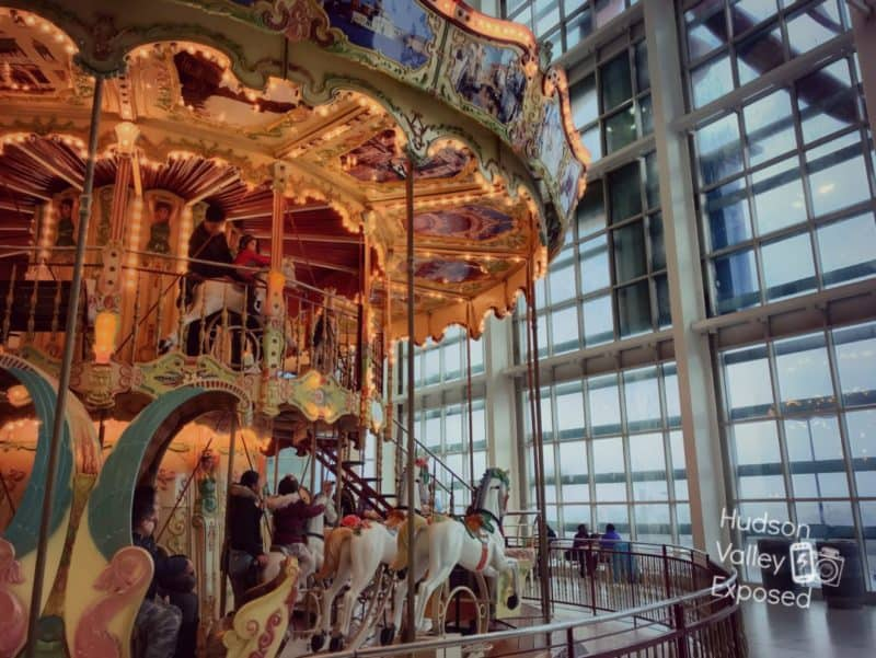 Side view of the Double Carousel at the Palisades Mall