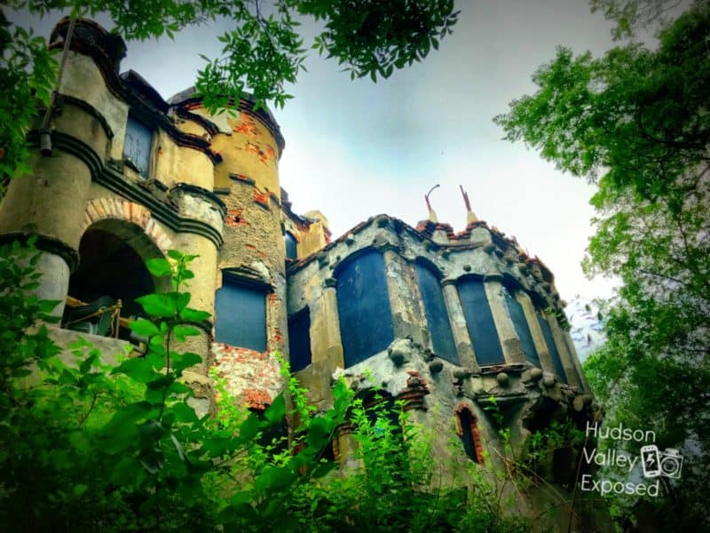 Bannerman Castle is undergoing restoration. Most of the castle is in ruins.