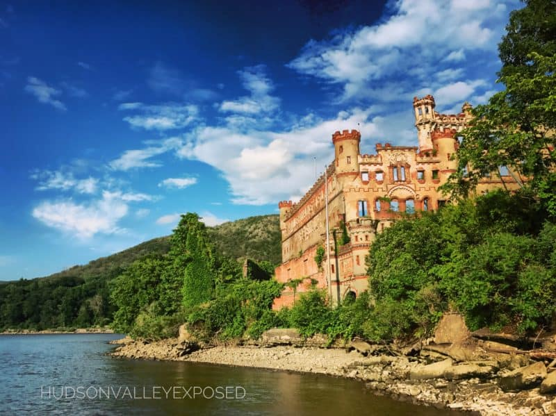 Bannerman Castle as seen from the Hudson River in the Hudson Valley