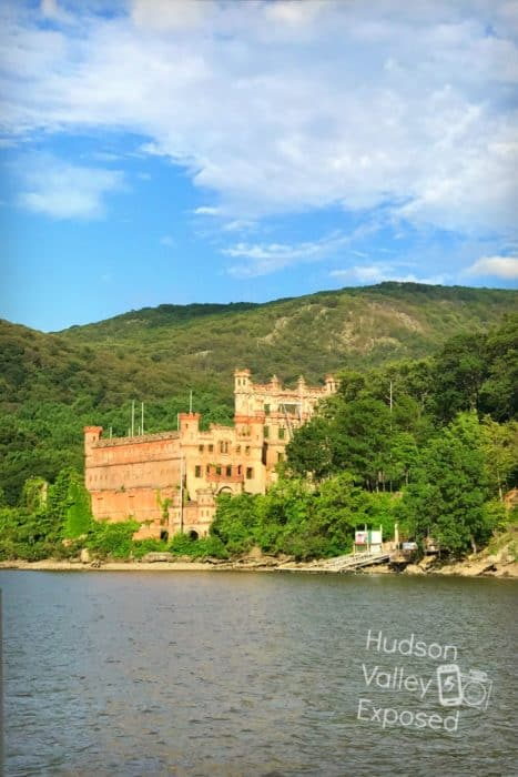 A view of the castle from the ferry on a Bannerman Castle Tour.