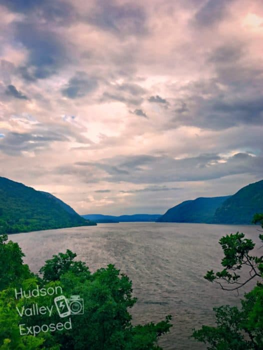 Sunset View of the Hudson River from the Bannerman Castle Garden