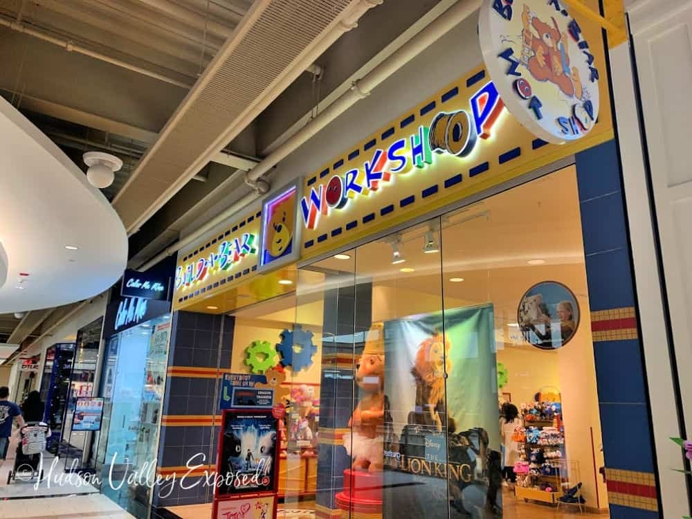 The store sign for Build a Bear workshop at the Palisades Center Mall