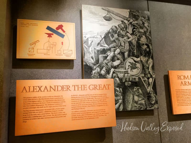 Alexander the Great exhibit at the West Point Museum