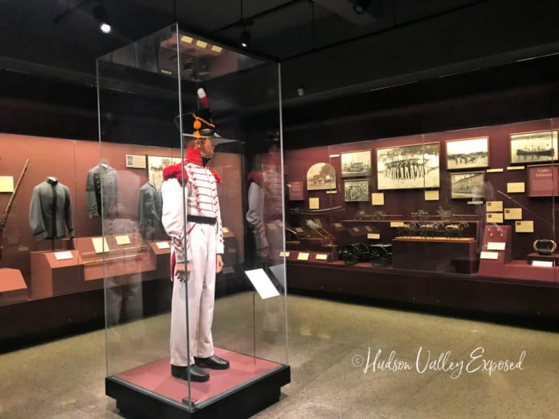 Display case at the West Point Visitors Center