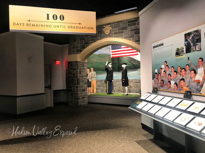 Cadet exhibit at the West Point Visitors Center