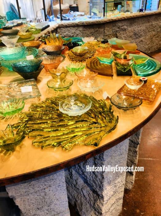 Decorative Glass pieces at Hudson Beach Glass