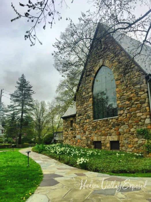 The view from the outside of Chagall's Stained glass window