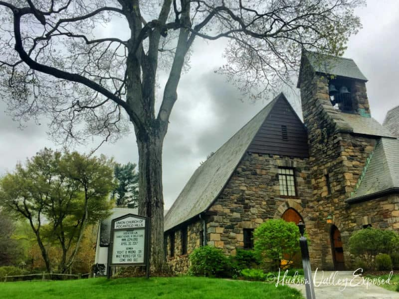 Chagall stained glass and Henri Matisse adorn this simpple church in Westchester County, NY