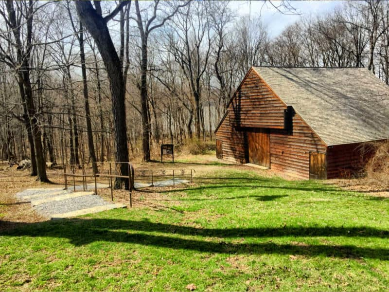 The barn at Mount Gulian Historic Site in Beacon, NY