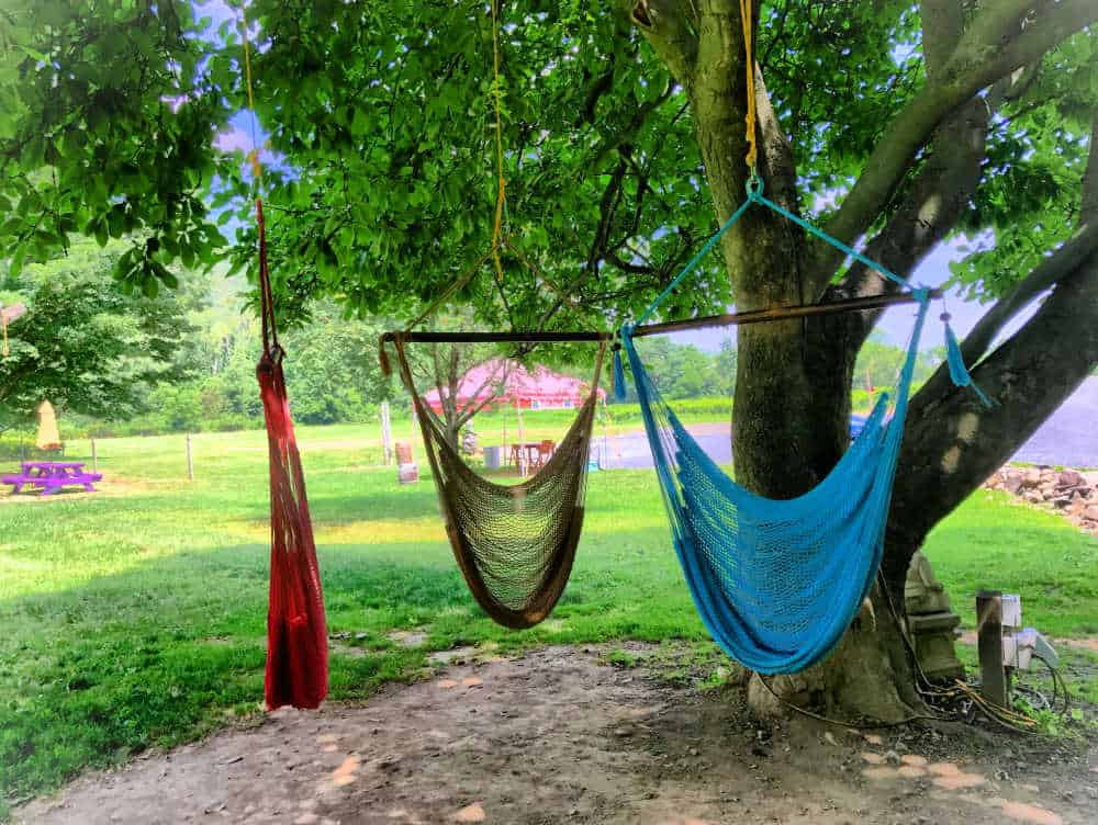 Hammocks at Palaia Winery. One of the Hudson Valley Day Trips to plan today.