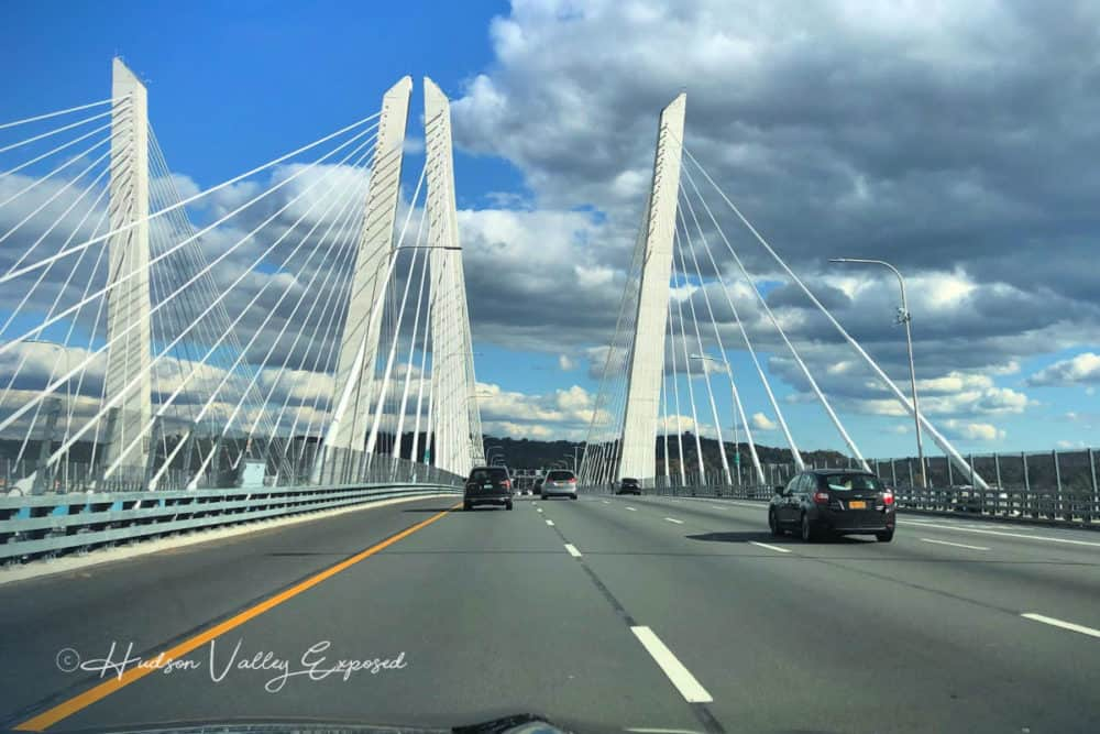 Driving along the Gov Mario Cuomo Bridge