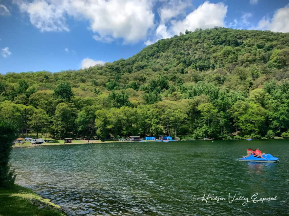 Paddleboats on Hessian Lake is one of the great Bear Mountain Activities to do during the summer