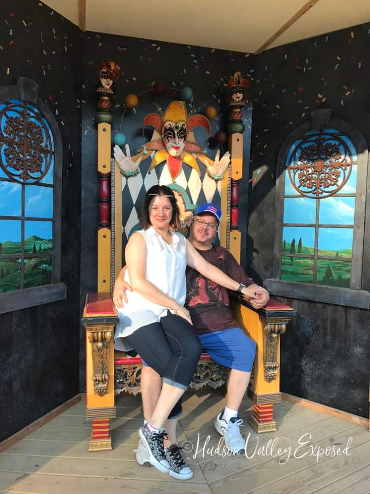 Sitting on a thrown at the NY Renaissance Faire