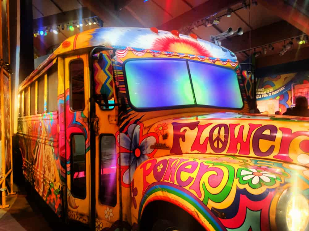 The Flower Power Bus at Bethel Wood Ctr for the Arts
