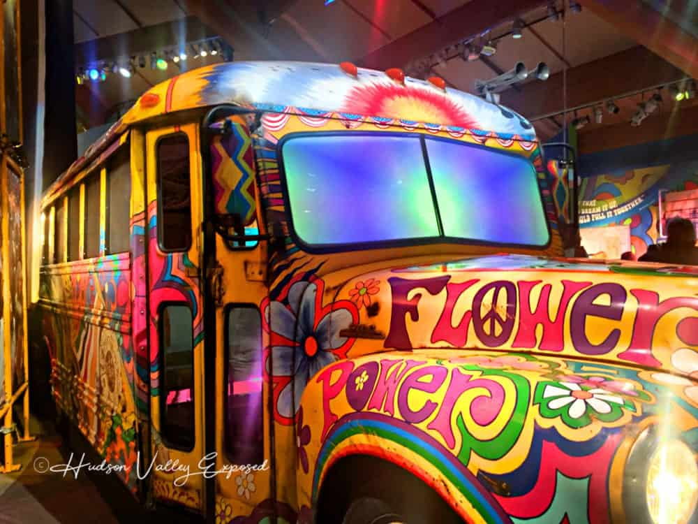 The Flower Power bus at the Museum at Bethel Woods