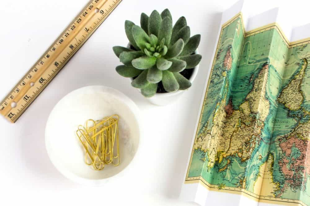 Road Trip Tips with map and ruler
