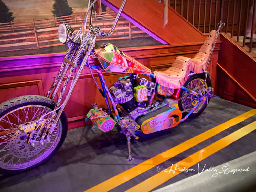 Orange County Choppers designed this motorcycle commemorating the Woodstock Festival