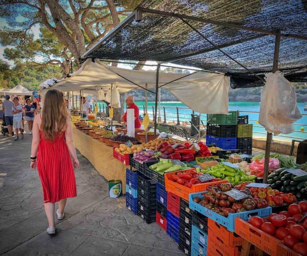 Woman at a Farmers Market