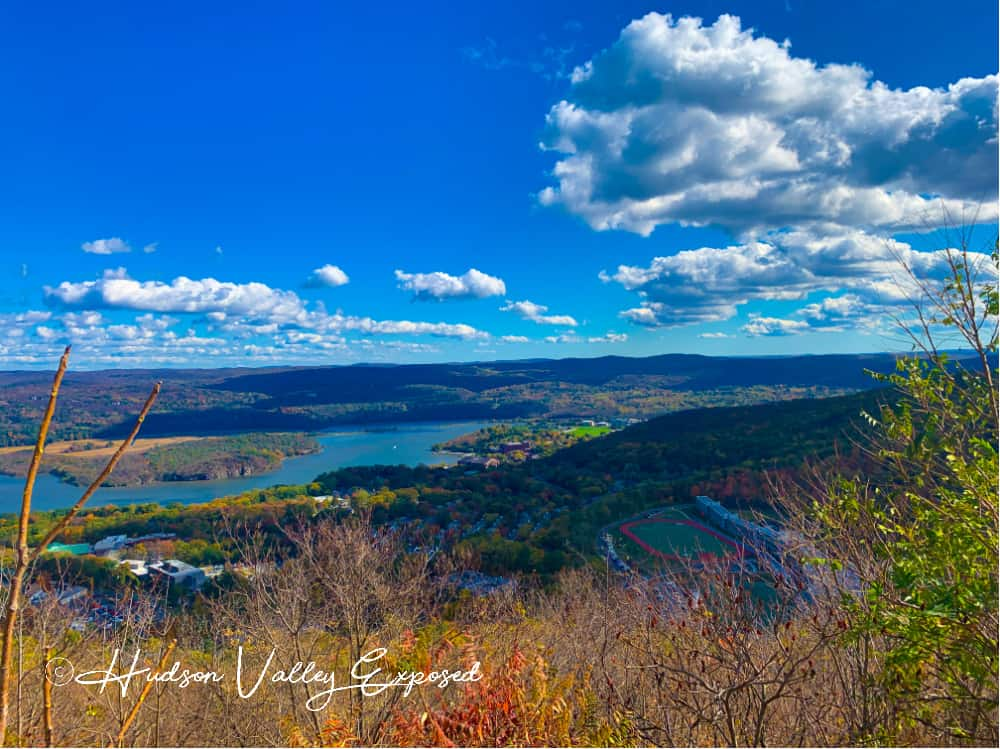 Hudson Valley Fall Foliage seen best from Route 9W on Storm King Mountain