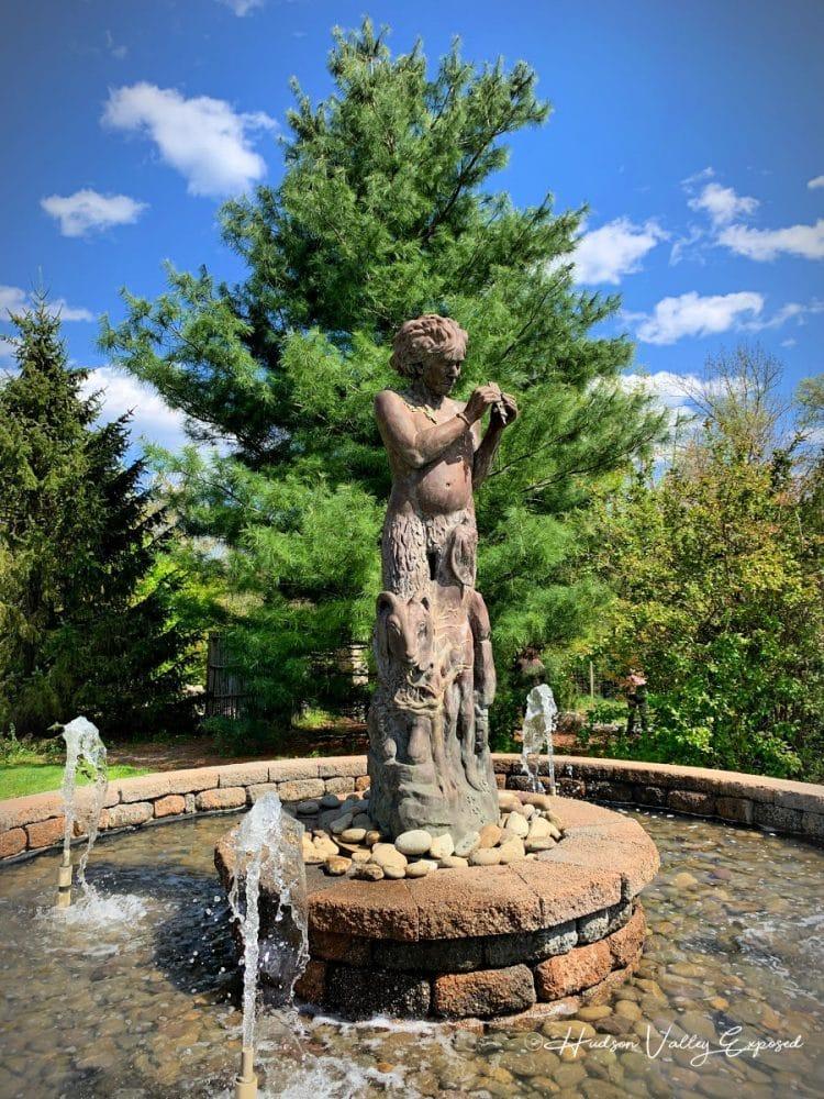 Statue Fountain at Orange County Arboretum