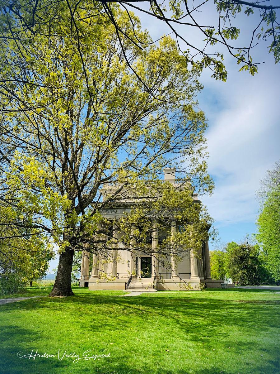 Springtime at the majestic Vanderbilt Mansion in Hyde Park