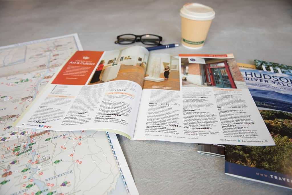 Hudson Valley map and magazines