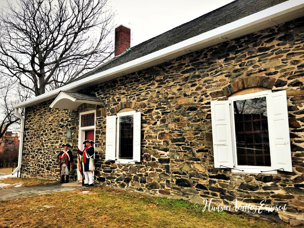 The entrance to Hasbrouck House at the Washington's State Historic Site. This is one of the best things to do in Newburgh NY