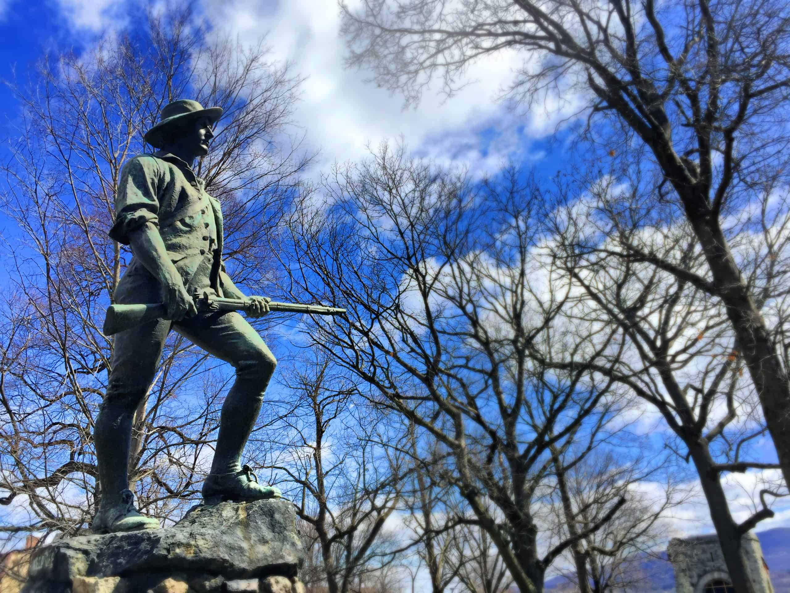The Minuteman Statue at the Washington Headquarters State Historic Site