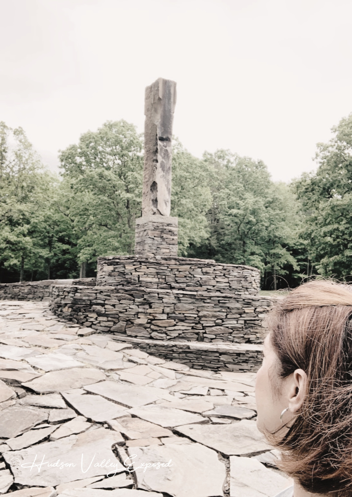 Looking at the centerpece of this Hudson Valley sculpture park