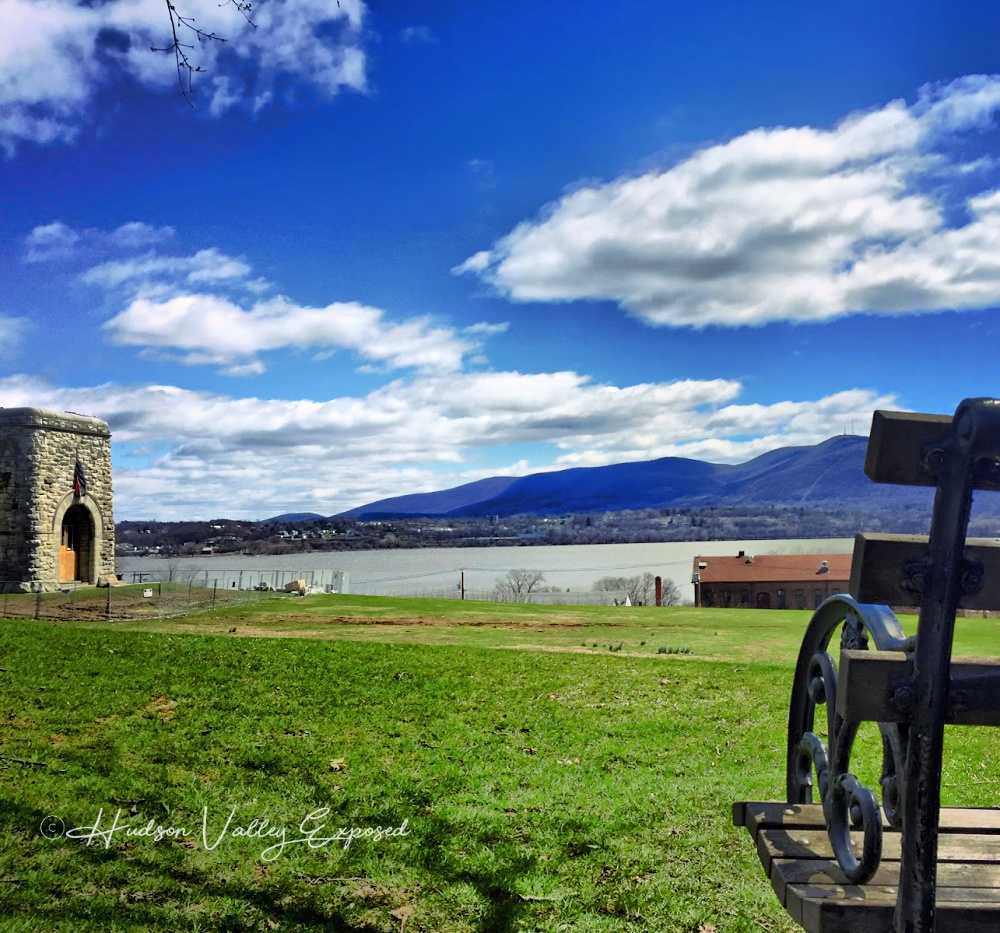 View of Mount Beacon from Washington Headquarters in Newburgh, NY