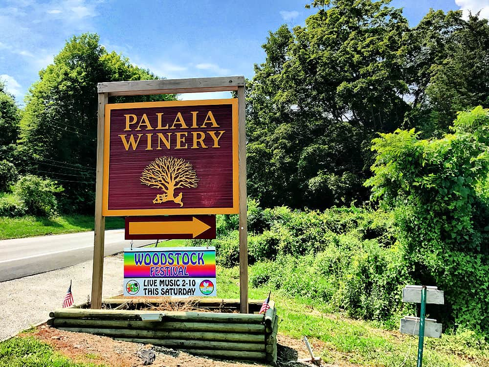 The Sign at Palaia Winery - one of the wineries in hudson valley