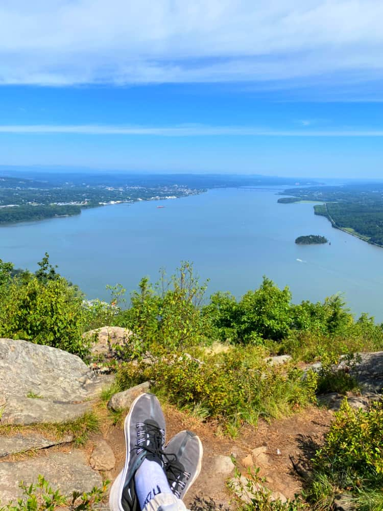 Resting on the summit is the best part of hiking in the Hudson Valley.