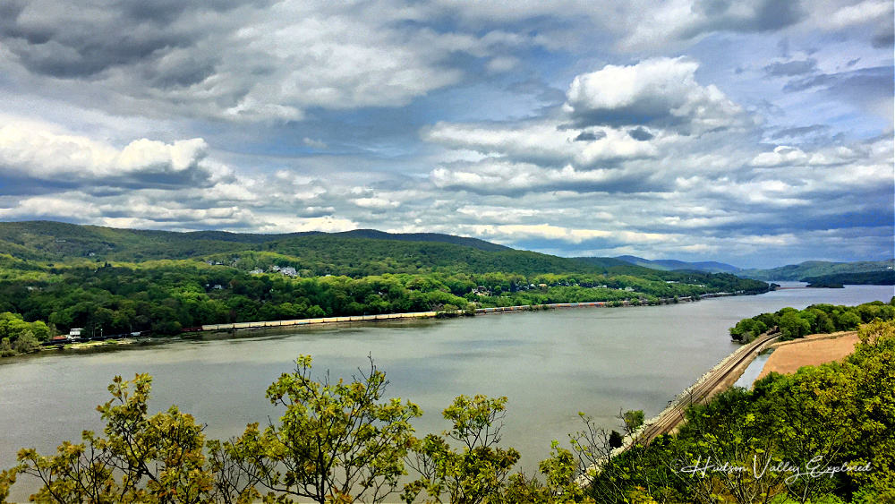 View of the Hudson River from Bear Mountain Bridge