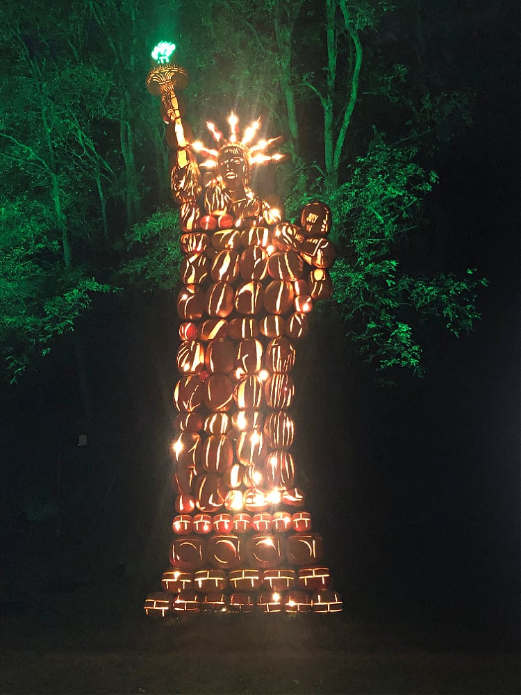 The Statue of Liberty at the great Pumpkin Blaze
