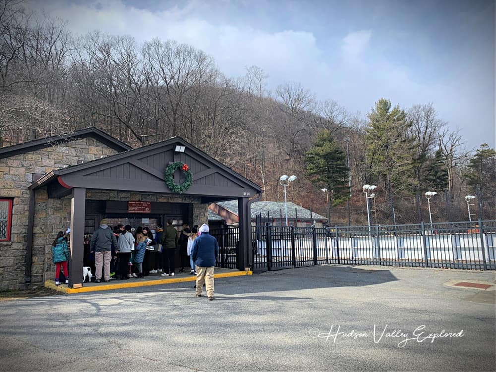 Entrance of the Bear Mountain Ice Skating Rink at the Bear Mountain State Park