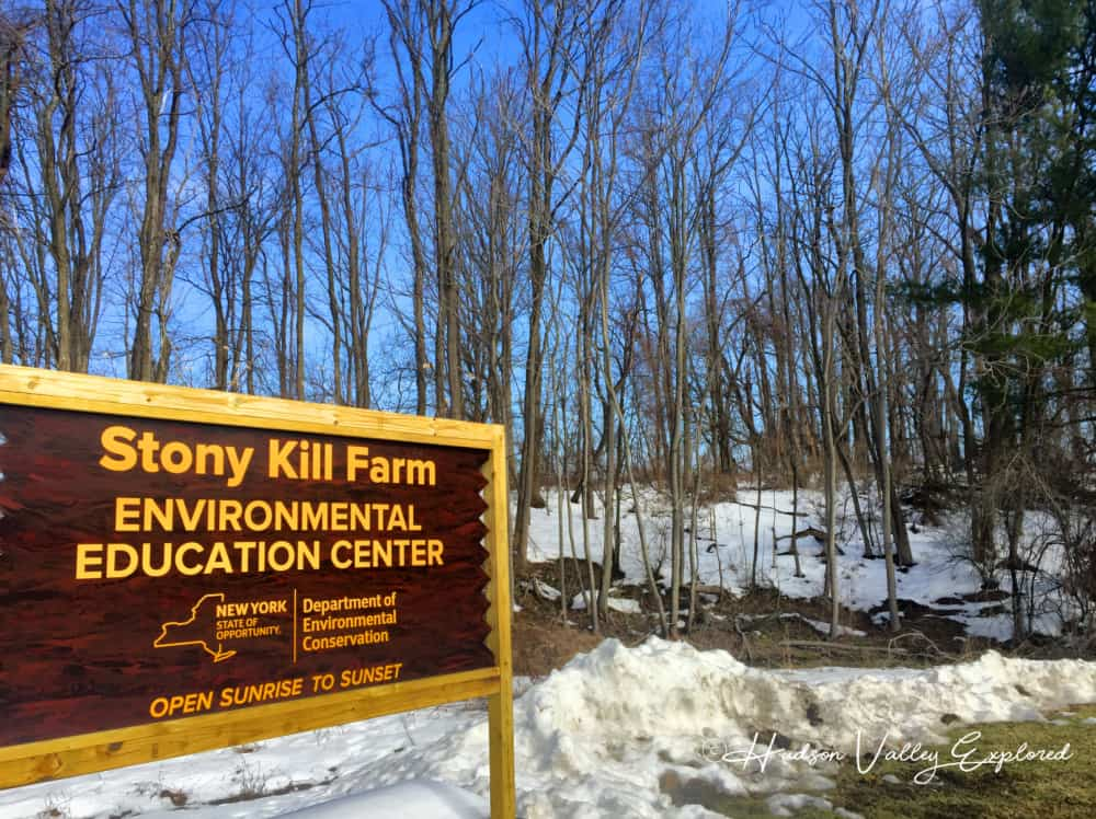 The sign at the entrance of Stony Kill Farm in Wappingers Falls