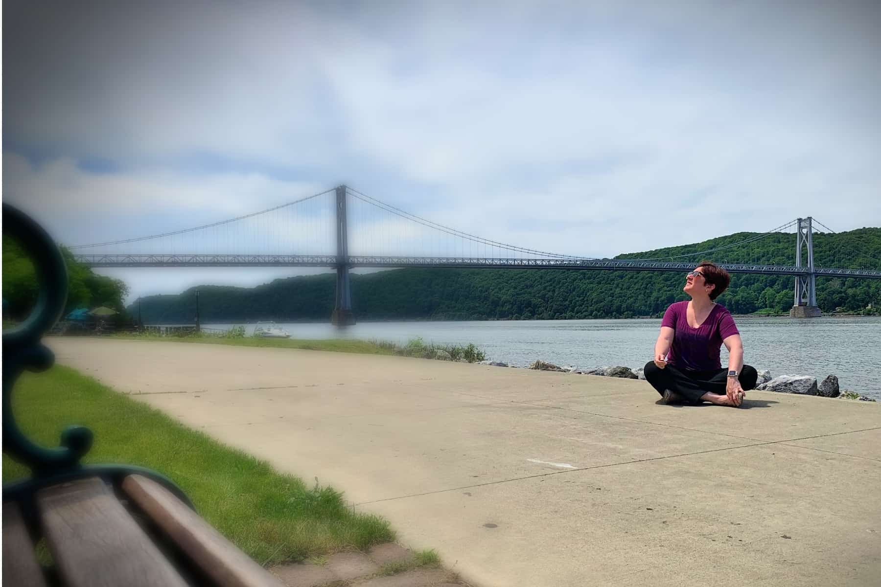 Jackie from Hudson Valley Explored at the Mid-Hudson Bridge