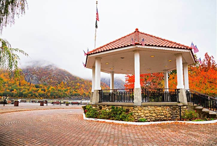 Sitting at the gazebo at dockside park is one of the best things to do in Cold Spring NY