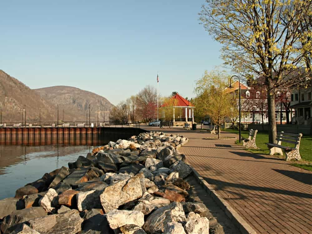 Sitting my the riverfront is one of the best things to do in Cold Spring NY