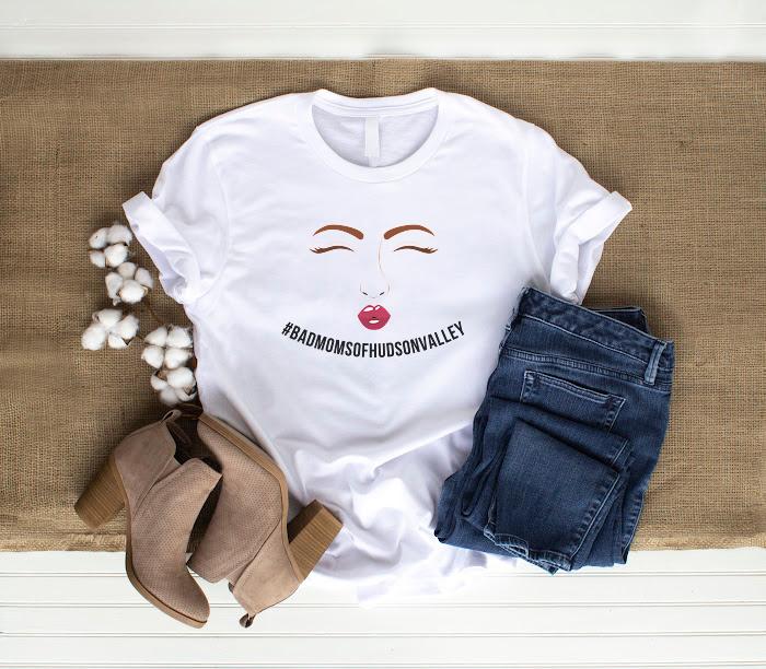 #Bad Moms of Hudson Valley Hashtag T-Shirt