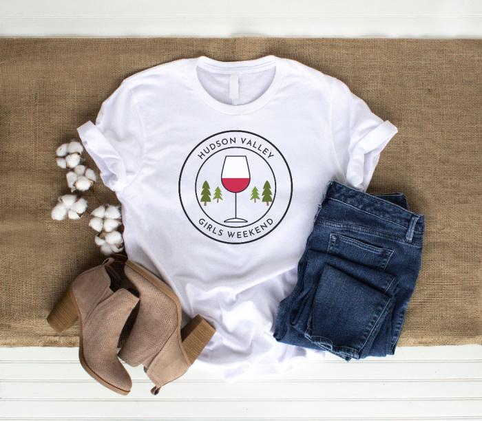 Girls Weekend Hudson Valley T-Shirt/Wine Glass