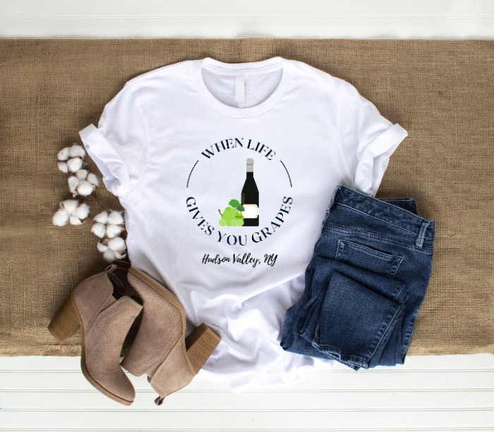 When Life Gives You Grapes/Hudson Valley T-Shirt